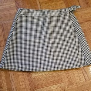 Benetton Mini Plaid Wrap Skirt